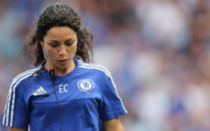 Editorial use only. No merchandising. For Football images FA and Premier League restrictions apply inc. no internet/mobile usage without FAPL license - for details contact Football Dataco  Mandatory Credit: Photo by BPI/REX Shutterstock (4931257am)  Chelsea Doctor Eva Carneiro During the Barclays Premier League match between Chelsea and Swansea City played at Stamford Bridge London  Barclays Premier League 2015/16 Chelsea v Swansea City Stamford Bridge, Fulham Rd, London, United Kingdom - 8 Aug 2015