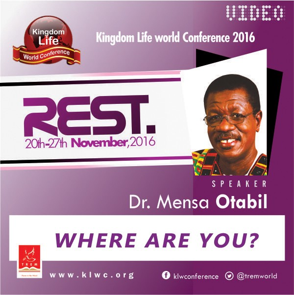 Where Are You? by Dr. Mensa Otabil (VIDEO)