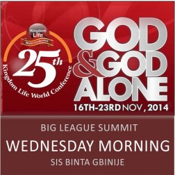 Big League (Wednesday Morning) - Sis Binta Gbinije