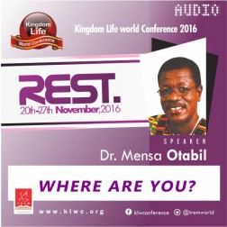 Where Are You? by Dr. Mensa Otabil (AUDIO)